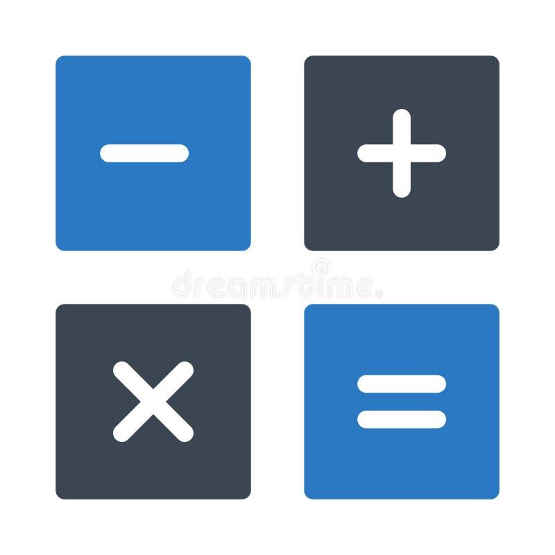 Het vectorpictogram van de wiskunde glyph kleur vector illustratie