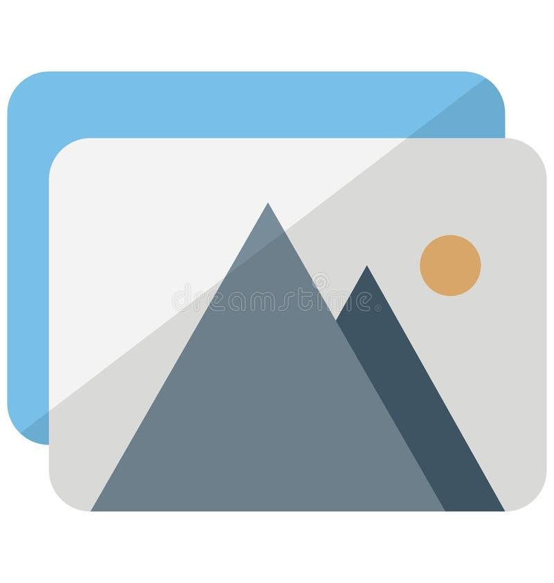 Het Vectorpictogram van het Desktopbehang dat zich gemakkelijk kan wijzigen of uitgeven royalty-vrije illustratie