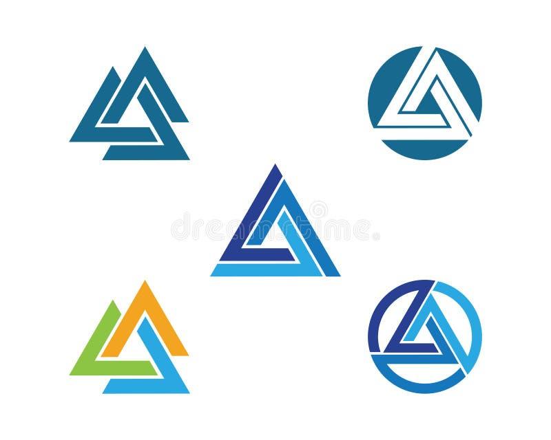 Het vectorpictogram van driehoekslogo template royalty-vrije illustratie