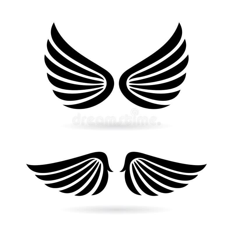 Het vectorpictogram van engelenvleugels vector illustratie