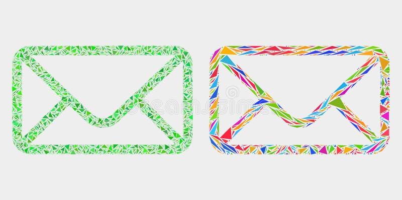 Het vectorpictogram van het Envelopmozaïek van Driehoekselementen stock illustratie