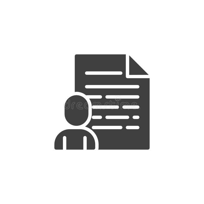 Het vectorpictogram van het gebruikersprofiel royalty-vrije illustratie