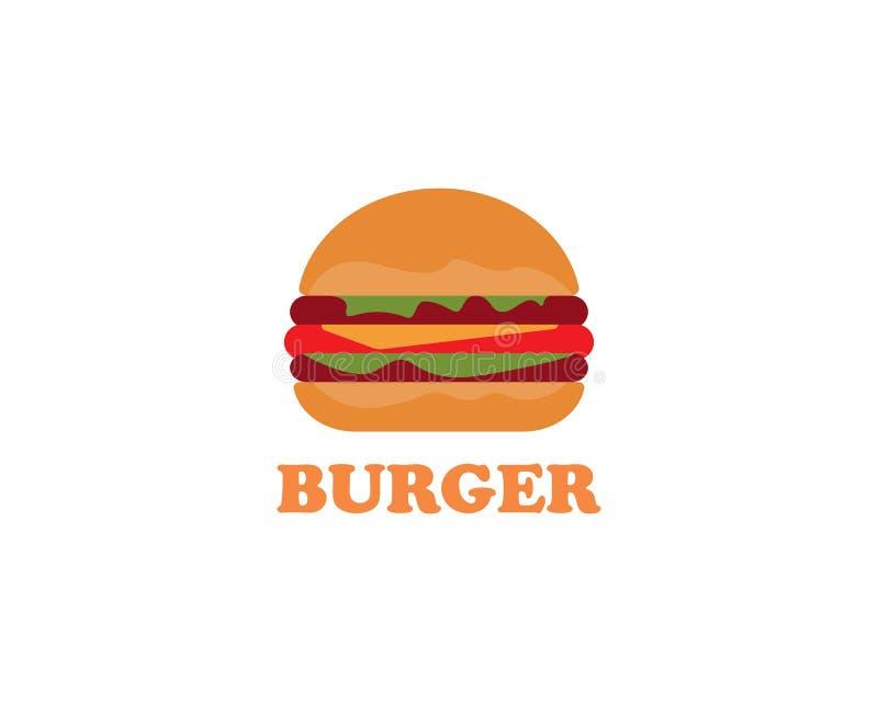 Het vectorpictogram van het hamburgerembleem royalty-vrije illustratie