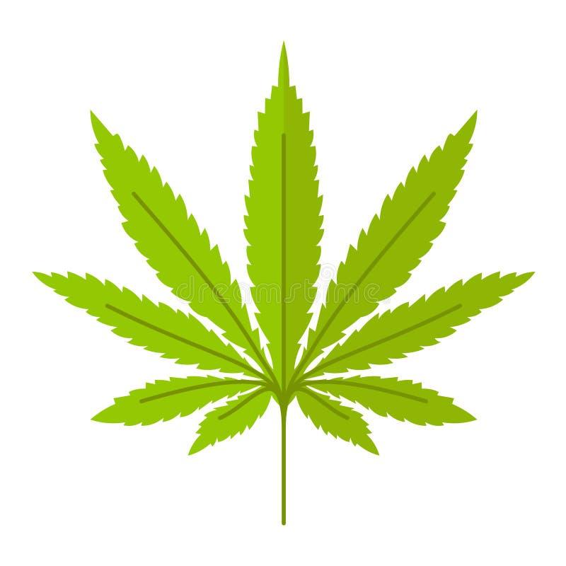 Het vectorpictogram van het marihuanablad royalty-vrije illustratie