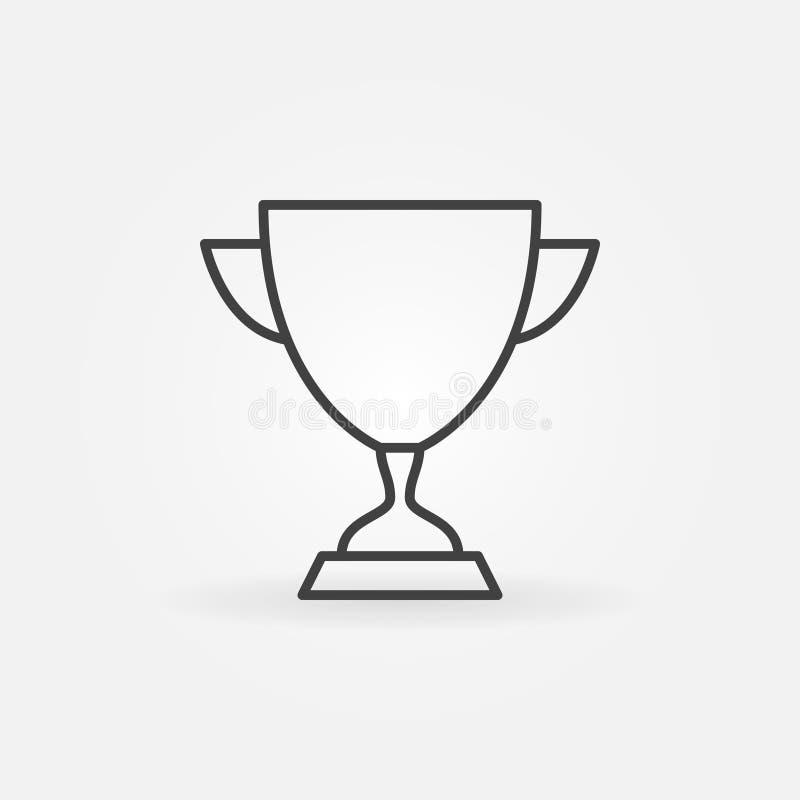 Het vectorpictogram van het kopoverzicht Trofee of Toekennings het teken van de conceptenlijn vector illustratie