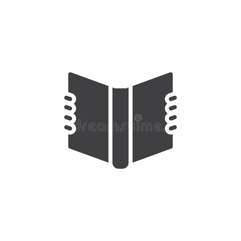 Het vectorpictogram van het lezingshandboek vector illustratie