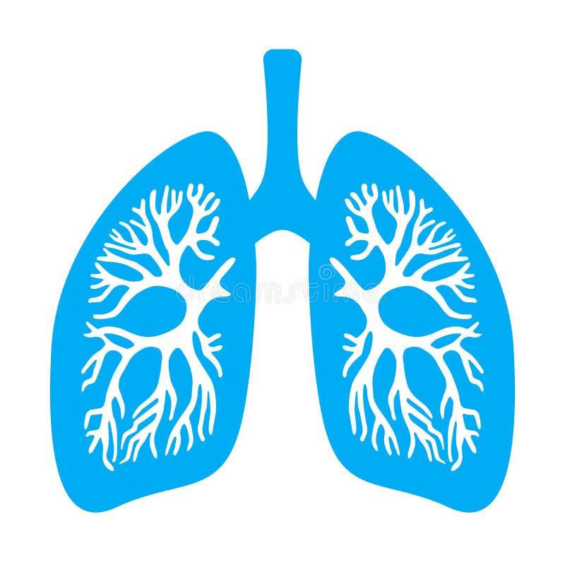 Het vectorpictogram van het longendiafragma royalty-vrije illustratie