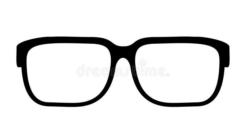 Het vectorpictogram van oogglazen stock illustratie