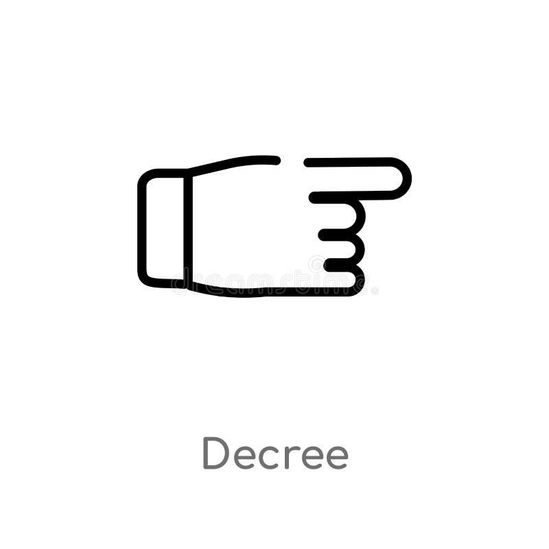 het vectorpictogram van het overzichtsbesluit de ge?soleerde zwarte eenvoudige illustratie van het lijnelement van gebarenconcept vector illustratie