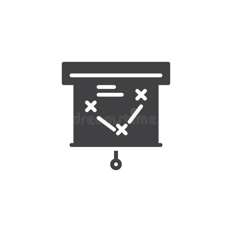 Het vectorpictogram van het presentatiescherm stock illustratie