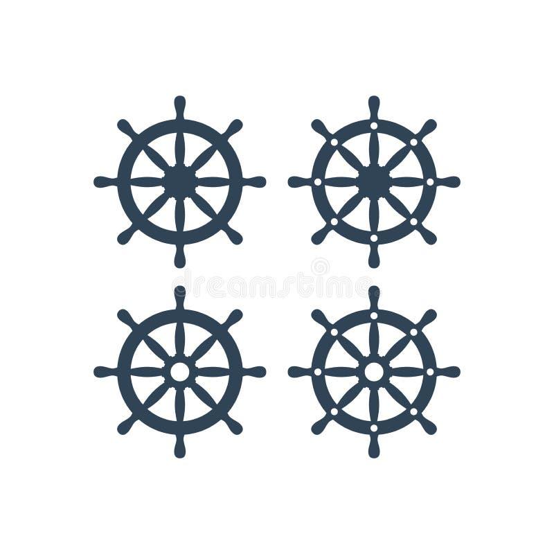 Het vectorpictogram van het schipwiel royalty-vrije illustratie