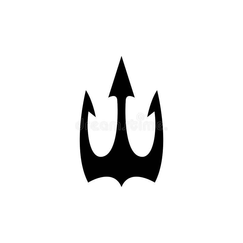 Het vectorpictogram van Trident Logo Template stock illustratie