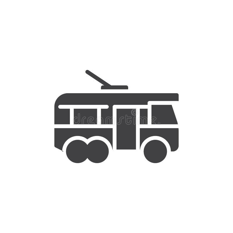 Het vectorpictogram van het trolleybus zijaanzicht royalty-vrije illustratie