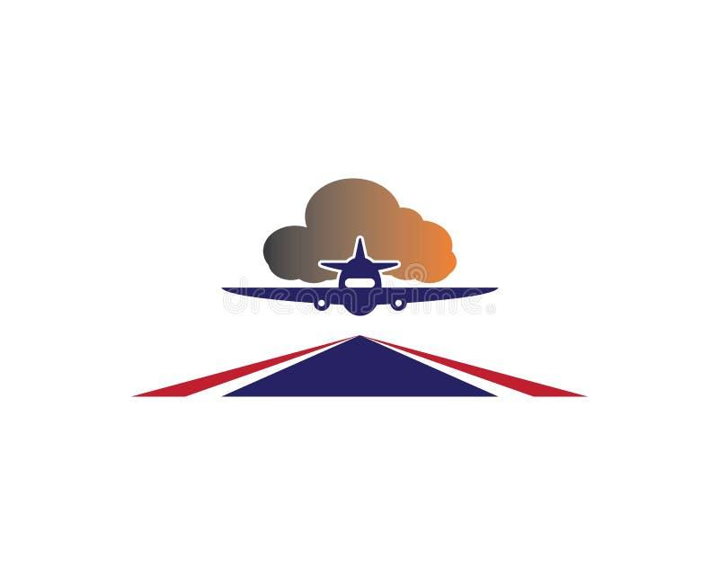 het vectorpictogram van het vliegtuigembleem royalty-vrije illustratie