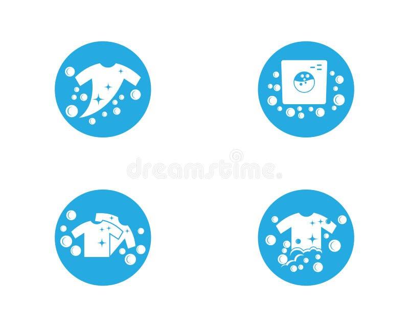 Het vectorpictogram van het wasserijembleem royalty-vrije illustratie