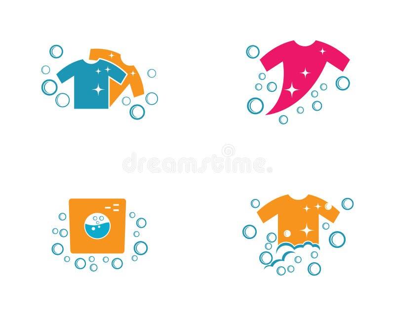 Het vectorpictogram van het wasserijembleem stock illustratie