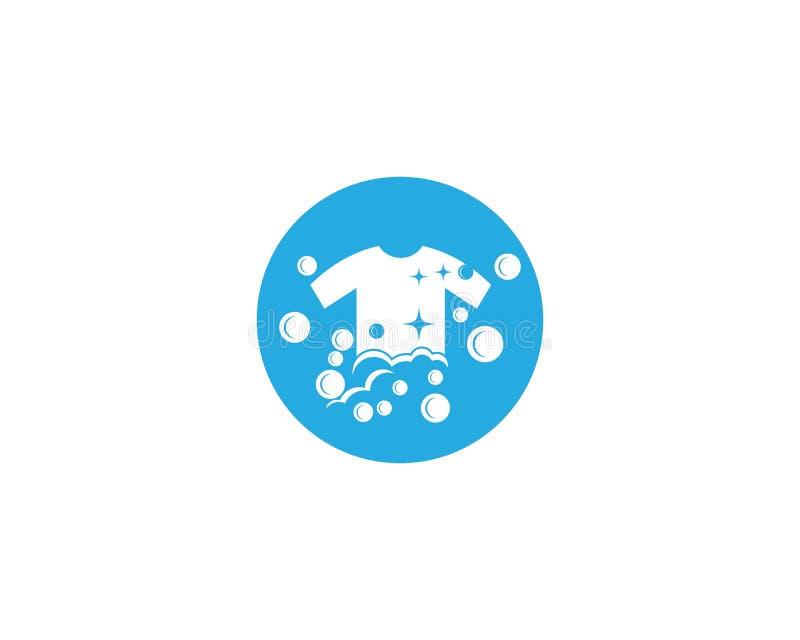 Het vectorpictogram van het wasserijembleem vector illustratie