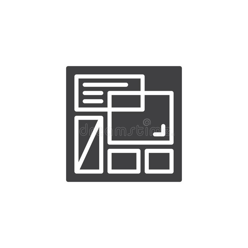 Het vectorpictogram van het websitemalplaatje stock illustratie