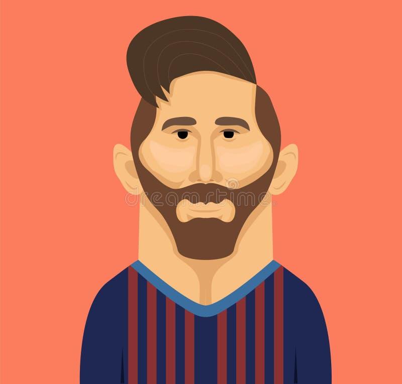 Het vectorportret van Lionel Messi royalty-vrije stock fotografie