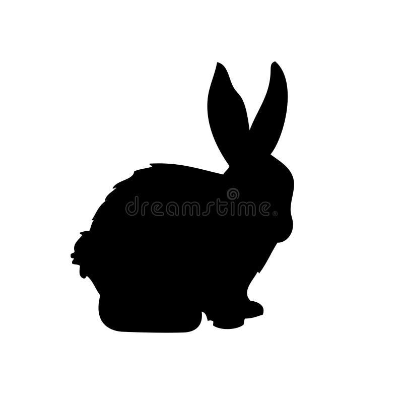 Het vectorsilhouet van het konijn vector illustratie