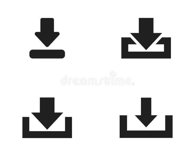 Het vectorsymbool van het downloadpictogram stock illustratie