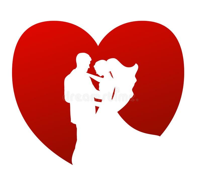 Het vectorsymbool van het huwelijk