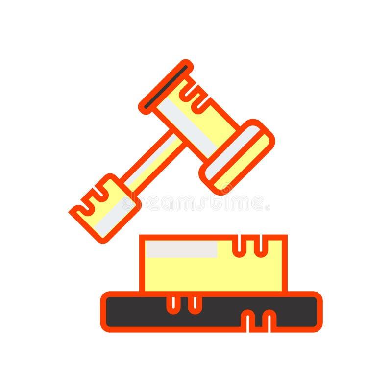 Het het vectorteken en symbool van het besluitpictogram dat op witte achtergrond, het concept van het Besluitembleem wordt geïsol royalty-vrije illustratie