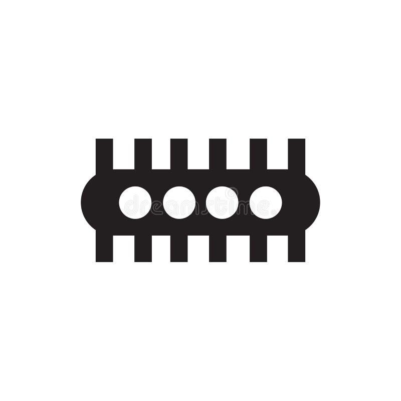 Het het vectorteken en symbool van het productpictogram dat op witte achtergrond, het concept van het Productembleem wordt geïsol royalty-vrije illustratie