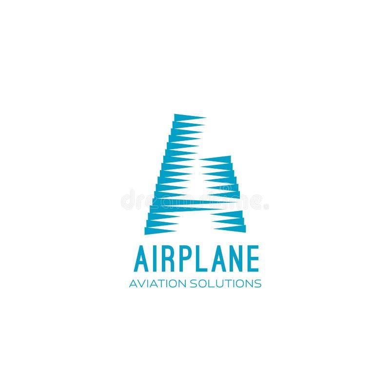 Het vectorteken van de vliegtuigluchtvaart vector illustratie