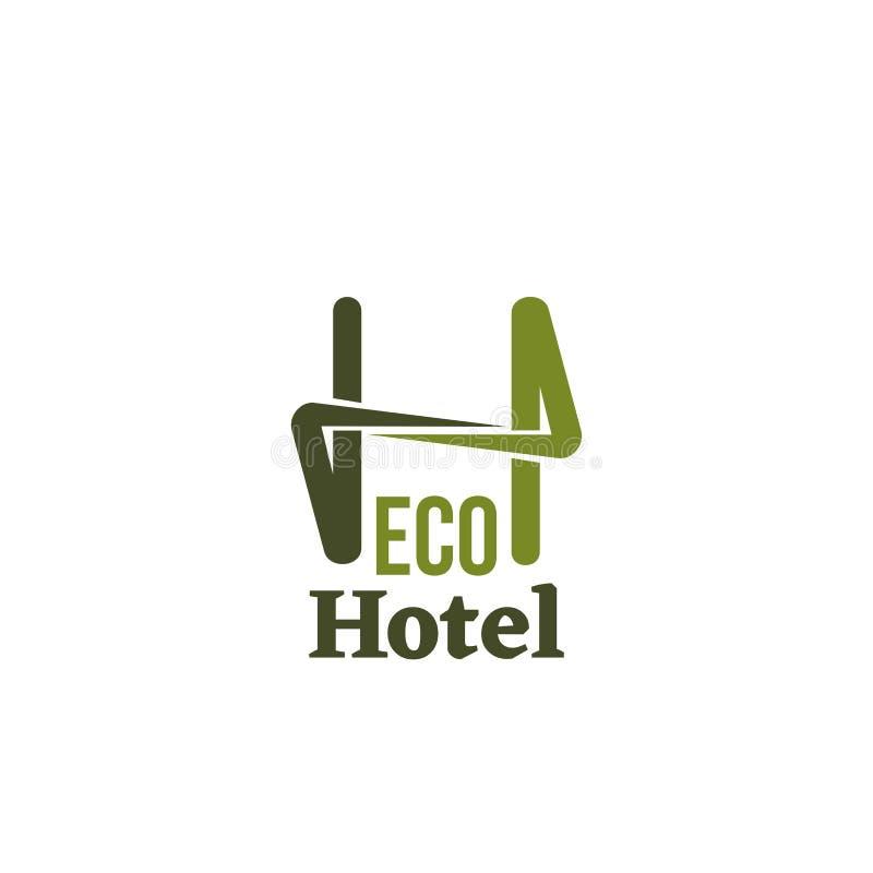 Het vectorteken van het Ecohotel vector illustratie