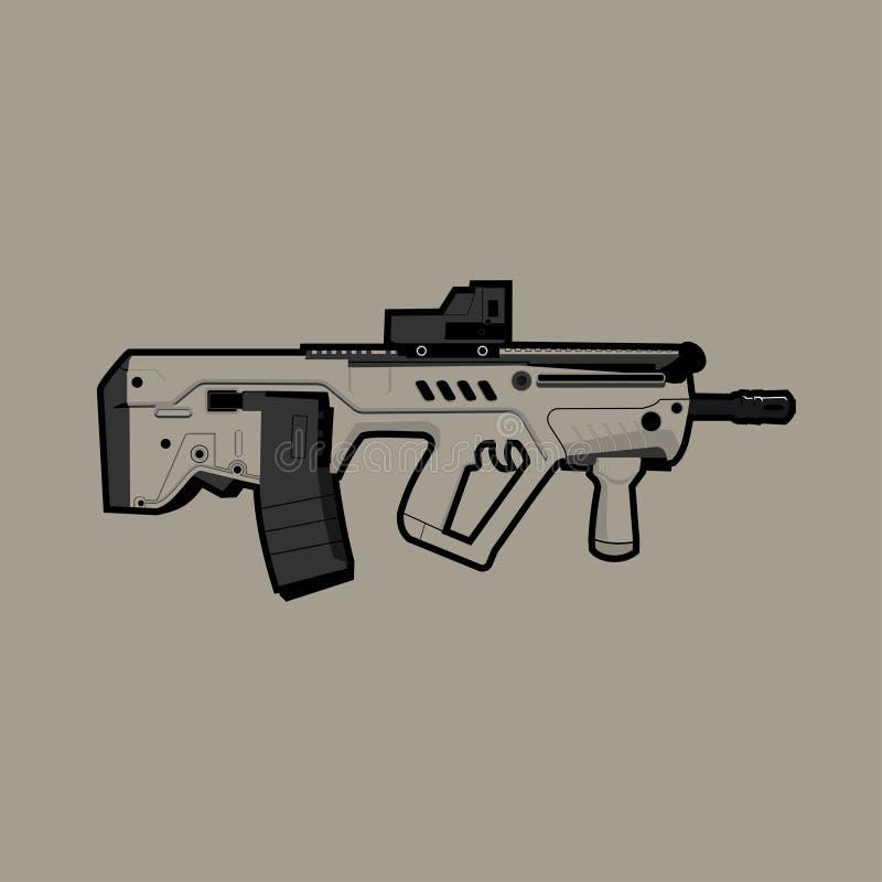 Het vectorvuurwapen van het Meprolightgeweer vector illustratie