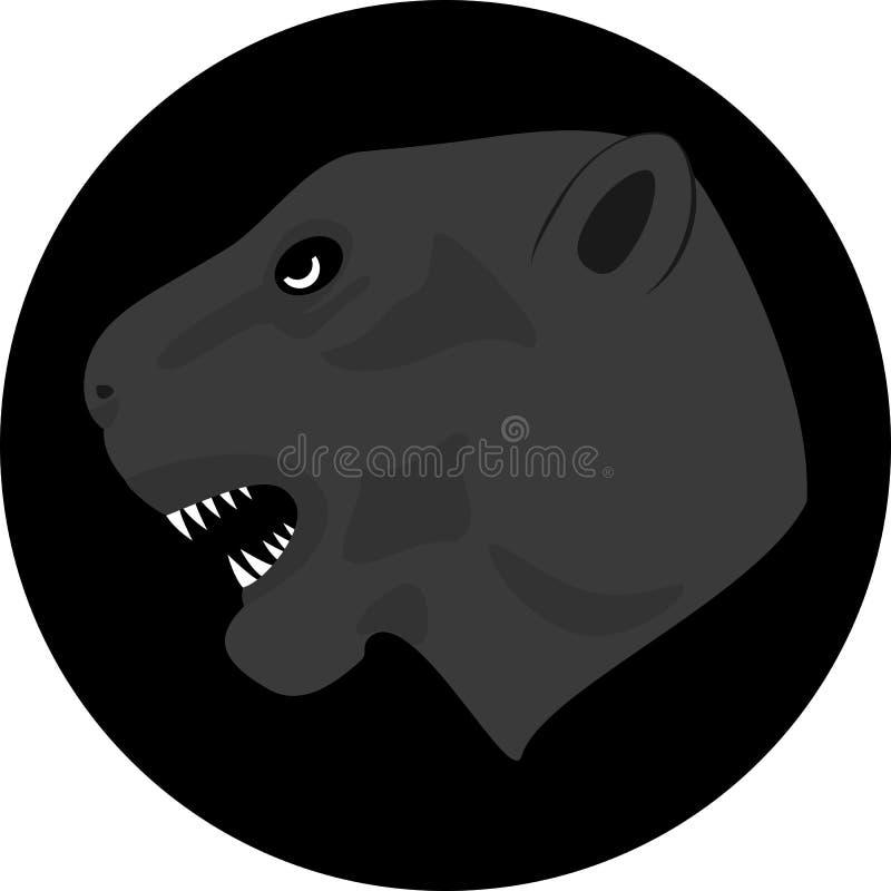 Het vectorwerk van jaguar Familie van felines vector illustratie