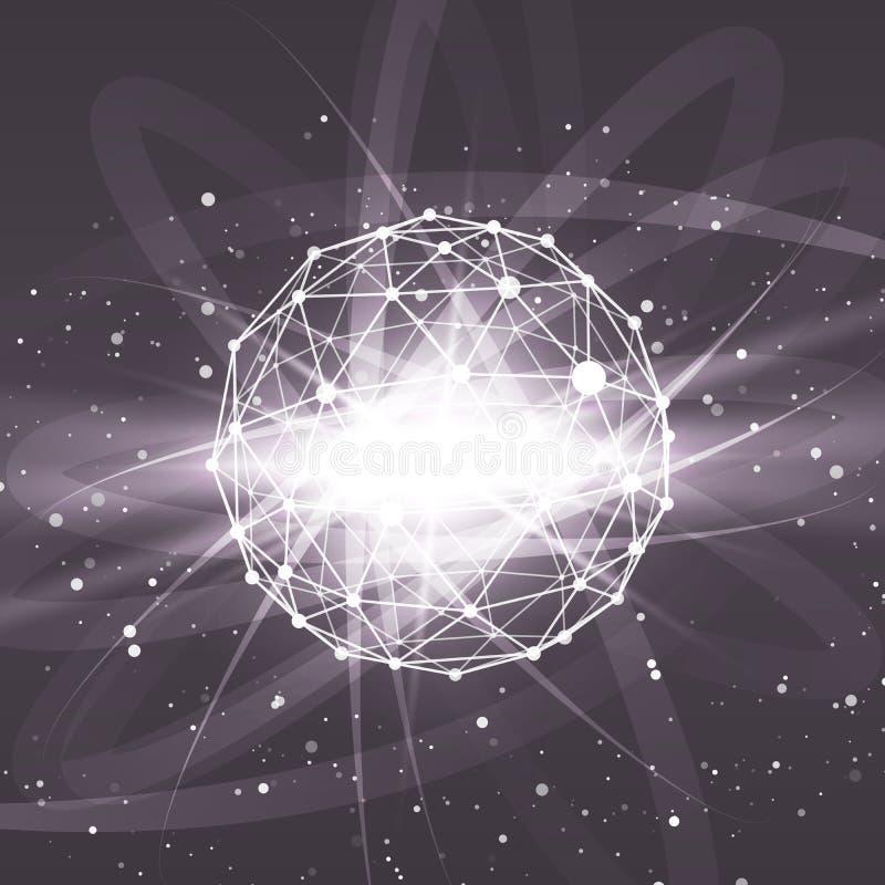 Het veelhoekige element van het Wireframenetwerk Gebied met royalty-vrije illustratie