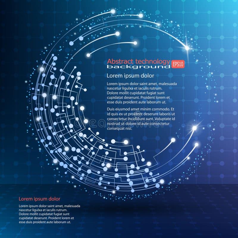 Het veelhoekige element van het Wireframenetwerk Abstracte vorm met verbonden lijnen en punten Vector illustratie EPS10 stock illustratie