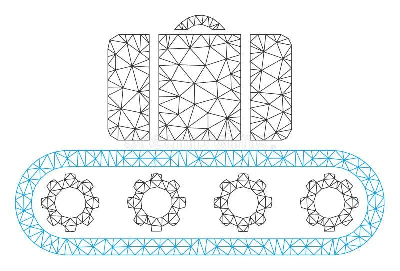 Het Veelhoekige Kader Vectormesh illustration van de bagagetransportband royalty-vrije illustratie