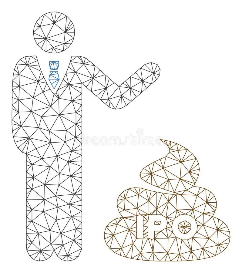 Het Veelhoekige Kader Vectormesh illustration van zakenmanShow IPO Shit stock illustratie