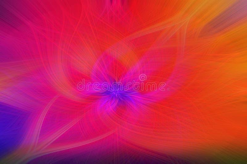 Het veelkleurige behang van het technologieontwerp met stromende golvende lijnen en in gradiënt, abstracte achtergrond royalty-vrije illustratie