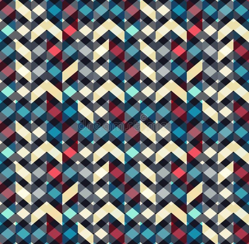 Het veelkleurige naadloze patroon van de chevronstijl Pijlentextuur vector illustratie