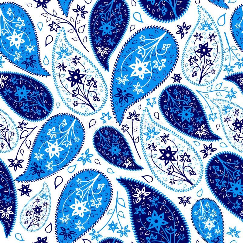 Het veelkleurige Naadloze Patroon van Paisley royalty-vrije illustratie