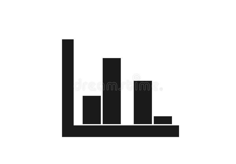 Het veelvoudige pictogram van de barhistogram multi-bargrafiek in eenvoudige stijl royalty-vrije illustratie