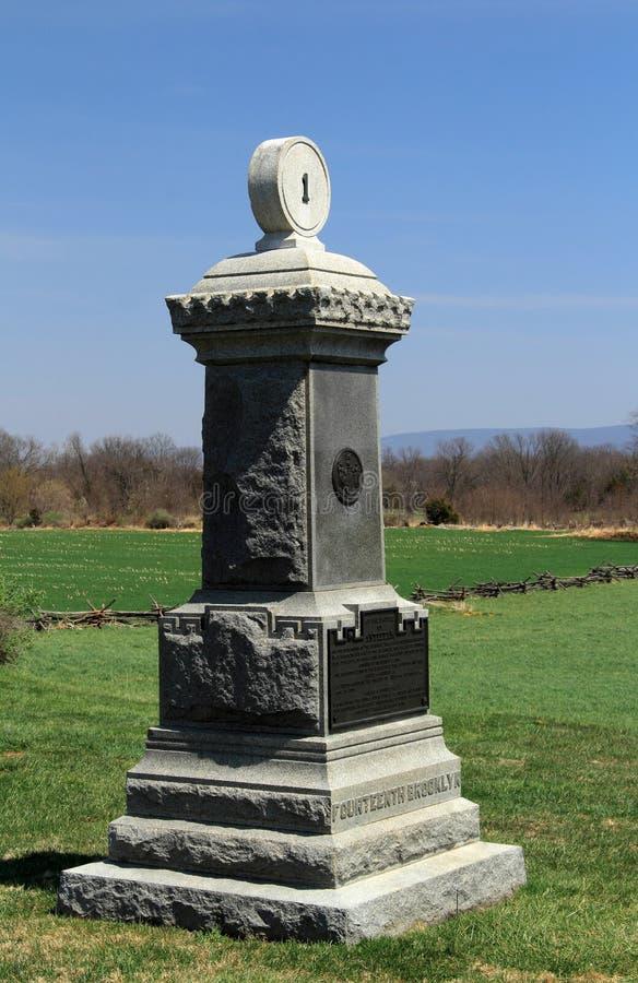 Het Veertiende Monument van Brooklyn in Antietam royalty-vrije stock afbeeldingen