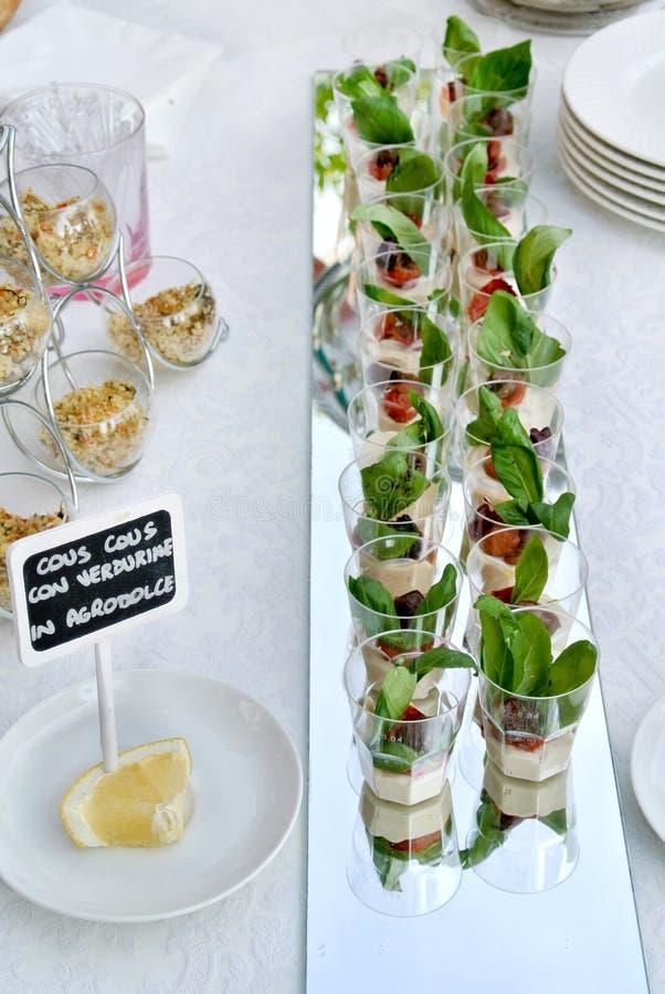 Het vegetarische buffet stock foto