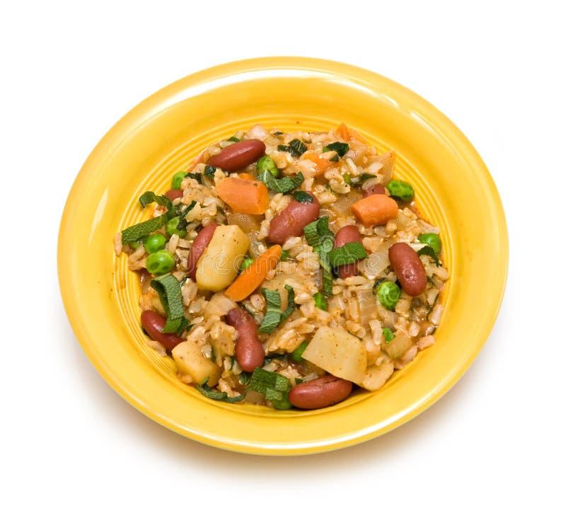 Het vegetarische Diner van de Veganist stock afbeeldingen