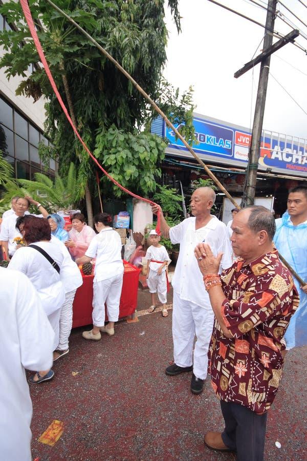 Het Vegetarische Festival van Phuket stock foto