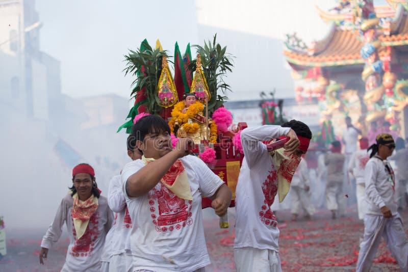 Het Vegetarische Festival Van Surat Thani Redactionele Foto