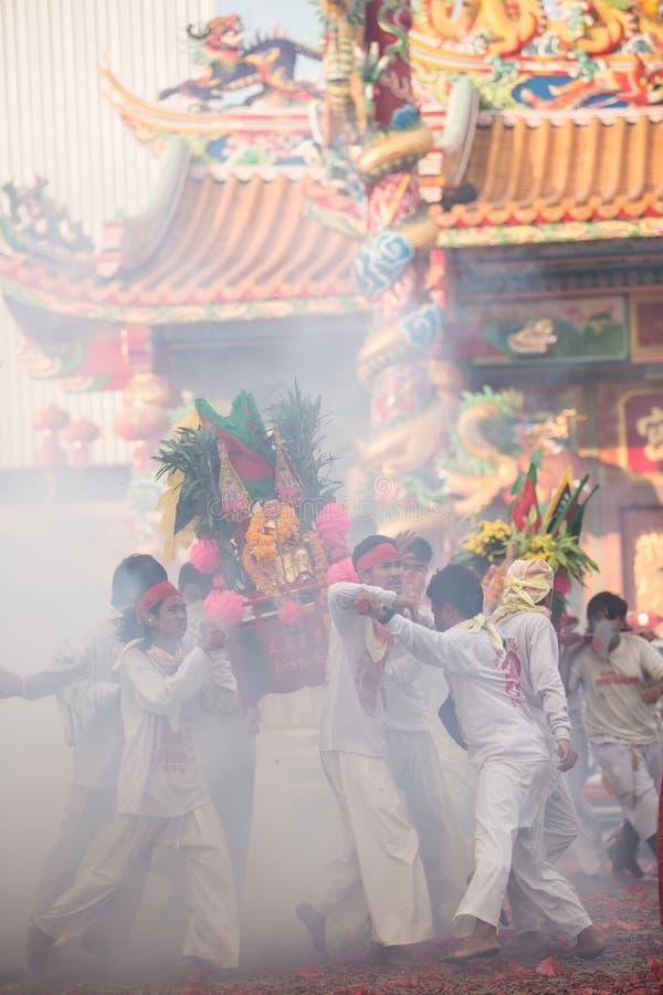 Het Vegetarische Festival Van Surat Thani Redactionele Stock Foto