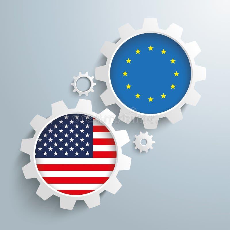 Het Vennootschaptoestellen van de EU de V.S. vector illustratie