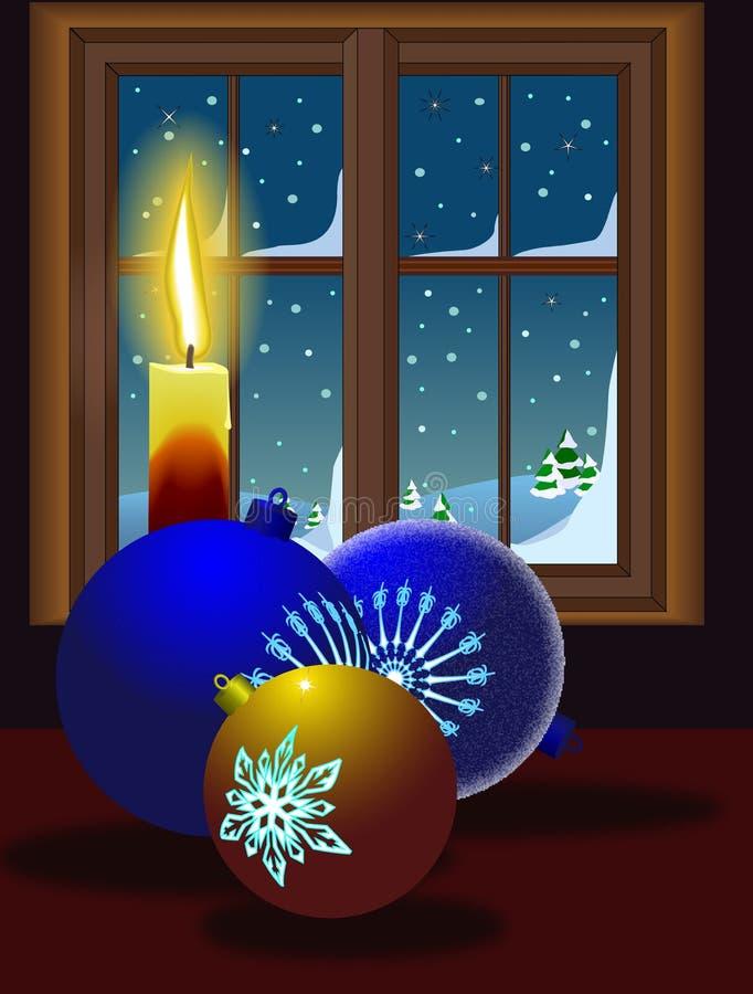 Het venster van de avond stock illustratie