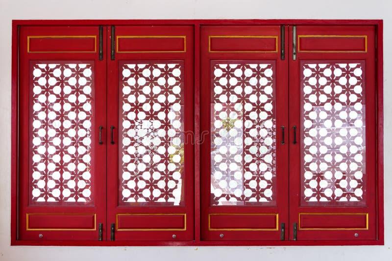 Het venster van de Chinese tempel royalty-vrije stock afbeeldingen