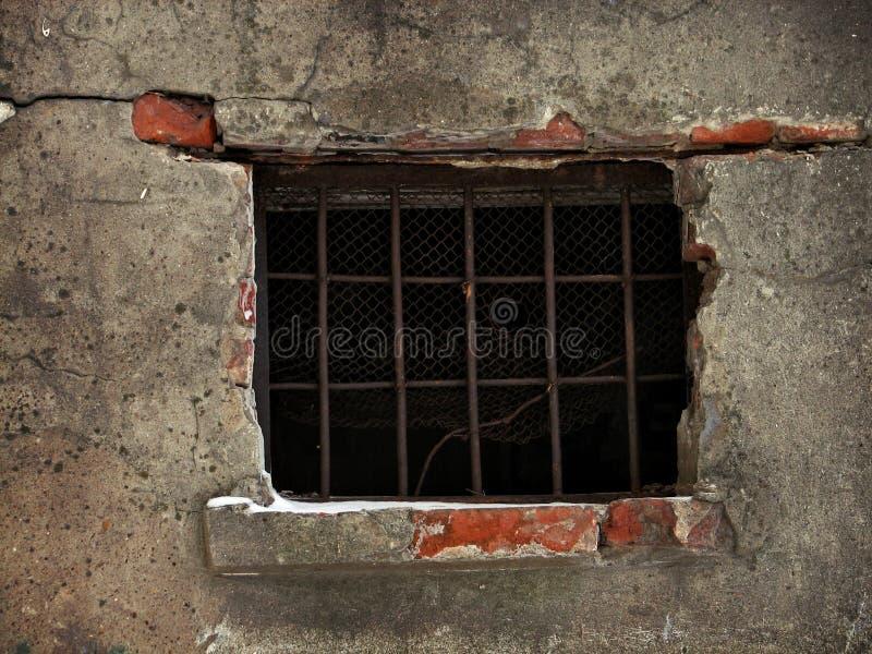 Het venster van de gevangenis stock afbeelding